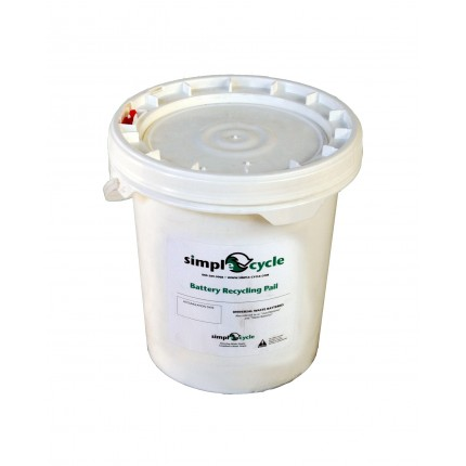 1 GALLON DRY CELL BATTERY RECYCLING PAIL