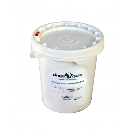 5 GALLON MERCURY ARTICLE RECYCLING PAIL